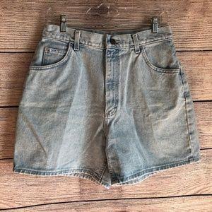 Vintage LEE Mom Shorts Light Wash Size 14